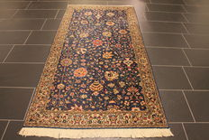 Magnificent Persian carpet - Tabriz cork wool - 100 x 200 cm - made in Iran at the end of the 20th century