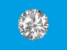 Diamond, brilliant cut, 0.34 ct   D / SI2 (ref #0217-100).