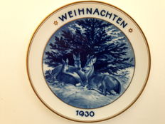 "Rosenthal - Christmas plate 1930, ""WALDWEIHNACHT"""