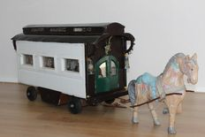 Handmade large ' Doll House '; Gypsy wagon with horse