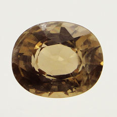 Golden brown quartz, 5 ct