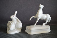 Herend - Hare and horse figurines