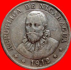 Republic of Nicaragua – 25 cents from Cordoba – Heaton – 1912