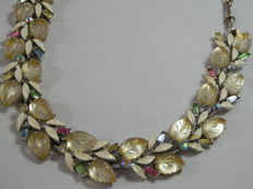 Lisner – necklace with enamels and coloured crystals