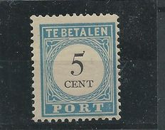 The Netherlands 1881 – Port Cijfer and value black – NVPH P6 type III