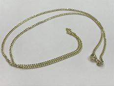 Gold curb chain necklace, no reserve.