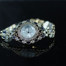 Handmade, 925 sterling marked silver jewellery, women's watch, mint condition