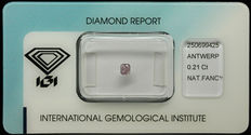 0.21 ct Natural Fancy Intense Purplish Pink Diamond – NO RESERVE