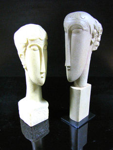 Amedeo Modigliani - Têtes Mo & Amed - Mouseion Collection
