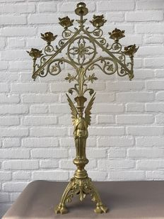 Large bronze candelabra with seven arms - France - ca. 1900