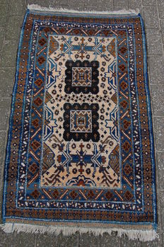Hand-knotted Nomadic Baluch carpet, 142 x 87 cm