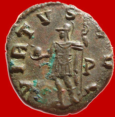 Roman Empire -  Gallienus (253-268) bronze antoninianus ( 3,66 g , 17 mm) Rome mint, 264-265 A.D. VIRTVS AVG. P.