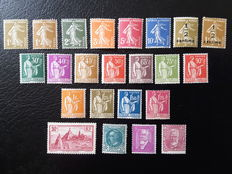France 1932/1937 – Stamp selection including complete series – Yvert no. 277A to 293
