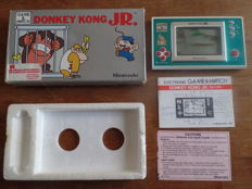 Nintendo Game & Watch - Donkey Kong Jr, complete with instructions and battery cover