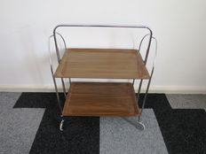 Designer unknown, vintage serving trolley