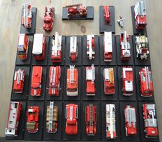 Del prado - Scale 1/43-1/80 - Lot with 29 Fire Department models: