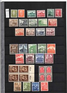 German Empire 1920 / 1945 - complete sets, pairs and individual stamps