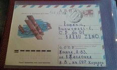 Russia – lot of 74 letters travelled via Air Mail, including Registered Mail