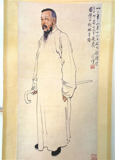 A scroll painting, reproduction Xu Beihong - China - late 20th century