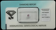 0.17 ct Natural Fancy Intense Purplish Pink Diamond – NO RESERVE