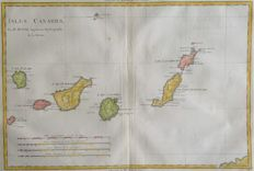 Canary islands; M. Bonne - Isles Canaries - 1787