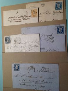 Netherlands and France 1870 - 26 stamped letters from the David family.