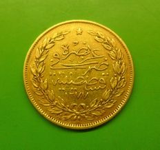 Ottoman Empire/Turkey AH 1277/11 - 100 Kurush - gold