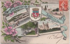 very good lot of 95 cpa postcards of Lyon