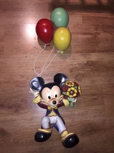 Disney, Walt - Figure - Mickey Mouse hanging from balloons - Second half of 20th century