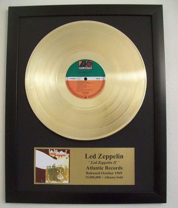 Led Zeppelin - Led Zeppelin II - Golden record LP 2nd