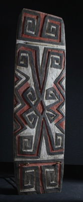 Practice shield of the Telefomin - Star Mountains - Western Sepik Province - Papua New Guina