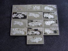 Mercedes-Benz - 13 small bars  - 925/1000 Sterling silver - Franklin Mint