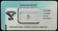 0.23 ct Natural Fancy Light Pink Diamond – NO RESERVE