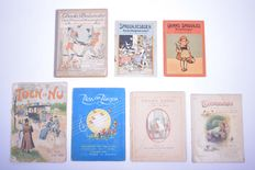 Children; Lot with 7 books with songs and fairy tales - 1900 / 1945