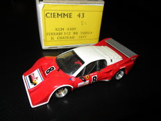 CIEMME43 Modelli - Scale 1/43 - Ferrari 512BB Turbo Special Jean Louis Chateau prepared for Le Mans 1978