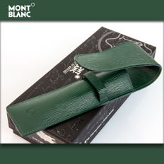 Montblanc  Moss Green 2-pen Leather Pouch