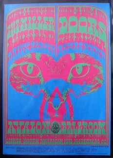 "The Doors San Francisco Avalon Ballroom Family Dog 1967 ""Pink Panther"" Victor Moscoso"