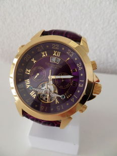 Calvaneo 1583 Astonia 'Luxury Violet Gold Star' – Men's wrist watch, brand new