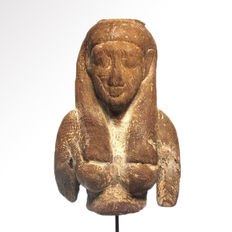 Large Egyptian Wood Isis Bust - 13.8 cm H