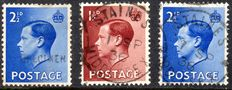 Great Britain 1936 - Edward VIII 2.5d Specimen & First Day Cancels/Cover in Collection - Stanley Gibbons 457/460
