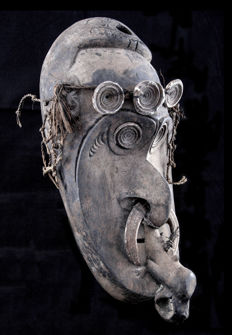 Cult mask probably for the skull cult - Papua New Guinea