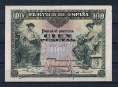 Spain - 100 Pesetas 1906 - No serial - Pick 59a