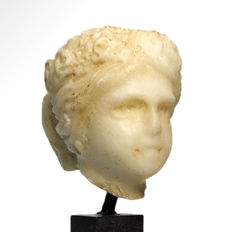 Roman Marble Head of a Young Lady - 5.7 cm H