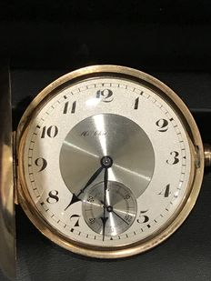 Pocket watch with gold chronograph