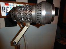 Johannes Richter Jr. Radebeul II lamp on chrome/black tripod