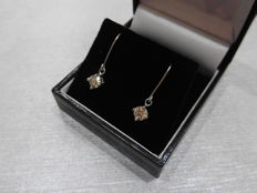 18k Gold Drop Style Diamond Earrings - 0.60ct  I, SI2