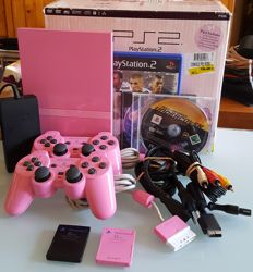 Sony PlayStation2  Slim Limited Edition Pink Console boxed  incl 2x Annalog Controller and 2xMemory Card 8Mb