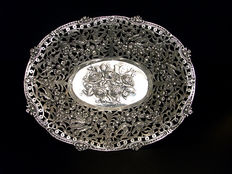 Silver fruit bowl, 20th century