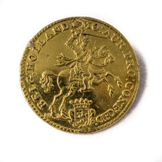 Holland – Half gold rider of 7 guilders, 1761