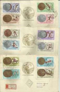 Hungary-115 pieses postcards -FDC – Various years